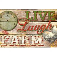 Barn Door Pallet Wood Wall Plaque Farmhouse Wood Signs Wood Wall Art Plaque for sale