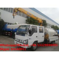 China ISUZU brand fecal suction truck with mobile telescopic boom for sale,Factory sale best price ISUZU boom truck crane on sale