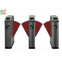 Quality Pedestrian Metal Flap Barrier Gate , Stainless Steel Access Control Gate for sale