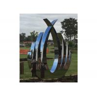 China Garden Decor Modern Outdoor Polished Stainless Steel Art Sculptures for sale