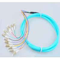 Wholesale Telecom Standard LC Pigtails LC/UPC OM3 Fiber Patch Cords 50/125 12Cores 1.5M Fiber Pigtails ST 12 Core Patch Cables from china suppliers