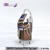 China SHR Fractional RF IPL Beauty Equipment , Vertical Nd Yag Laser Machine for sale