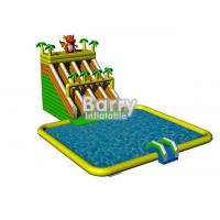 Wholesale 0.55mm PVC Tarpaulin Garden Jungle Inflatable Water Slide Park For Commercial from china suppliers