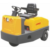 Wholesale Battery Operated  4 Wheel Platform Truck , Airport Tow Tractor High Range Steering Design from china suppliers