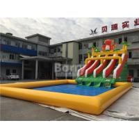 Wholesale Custom Dinosaur Slide Inflatable Water Park With Pool For Summer from china suppliers