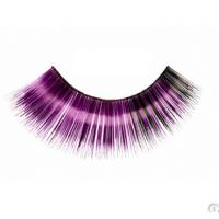 China Fashion carnival colorful combined layers synthetic fibre party eyelashes on sale