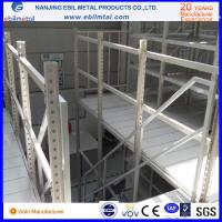 Steel Mezzanine Racking / Storage Racking 2-3 Layers Steel Floor with white blue