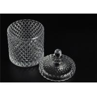Quality Elegant White Glass Dome Candle Holder Personalised Glass Jars With Lid for sale