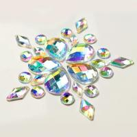 Wholesale Colorful Pear Shaped Sew On Glass Crystals , Extremely Shiny Sew On Gemstones from china suppliers