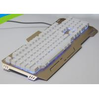 Wholesale High End Light Up Mechanical Gaming Keyboard , Slim Metal Mechanical Keyboard from china suppliers
