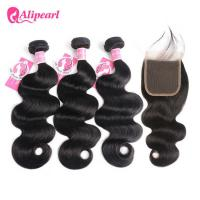 Wholesale Natural Color Human Hair Bundles With Closure Body Wave 8A Virgin Hair from china suppliers