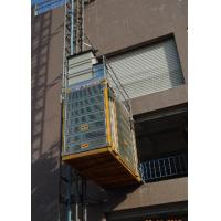 China 3 Doors Passenger And Material Hoist Yellow Color With Q345B Steel Material for sale