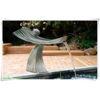 Wholesale Pool Ornaments Waterfall Fountain , Stainless Water Feature For The Garden from china suppliers