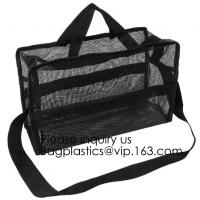 Wholesale Nylon Mesh Net Cosmetic Bag, Mesh Make Up Bag,Eco -friendly material cosmetic mesh bag ,PVC mesh bag for sales in USA from china suppliers