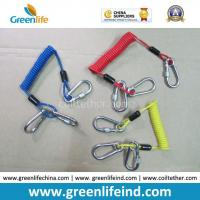 Customized Carabiner Colorful Tool Coiled Tether Cords for sale