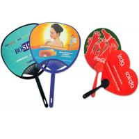 Wholesale Personalized PVC Plastic Products , Promotional Hand Held Fans Custom Die Cut from china suppliers