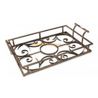 China Quality assured custom designed different color decorative metal serving tray wholesale on sale