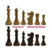 """Wholesale 6"""" wood chess pieces 32pcs international wooden chess set huge size from china suppliers"""