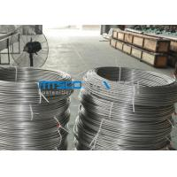 China ASTM A269 TP304 Stainless Steel Coiled Tubing Size 6.35mm x 1.65mm x 150m / coil on sale
