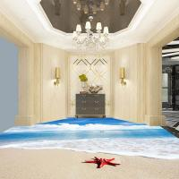 China Hot sell bedroom bathroom 3D floor clear epoxy resin floor paint for sale
