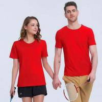Wholesale Mix color Wholesale in bulk O neck Customized Blank T-shirt cotton preshrunk fabric moisture absorption sports apparel from china suppliers