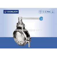 Wholesale Sanitary grade manual butterfly valve multi - position handle for regulating flow from china suppliers