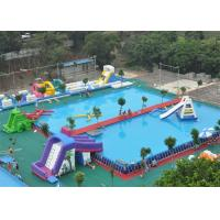 Quality Safety Frame Adult Inflatable Amusement Park With Fire Resistant PVC for sale