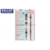 Quality Wood Pulp Uncoated Ballot Voting Paper Color Customized For Election for sale