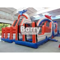 Wholesale Adults Giant Inflatable Blow Up Obstacle Course Games 30 X 8 X 7m 0.9mm PVC from china suppliers