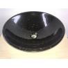 black galaxy granite bathroom round sinks granite wash basin for sale