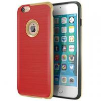 Buy cheap Red TPU Hard PC Bumper Hybrid Protective Personalized Iphone Case Brushed Texture from Wholesalers