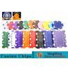 Oversized Rectangular Printable Plastic Ept Poker Chips 11.5g - 32g 3.3mm for sale