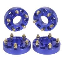"Blue color Jeep Wrangler JK Rubicon Hub Centric 1.5"" Wheel Spacers 5x5 to 5x5"
