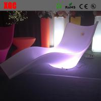 Wholesale Lightweight Swimming Pool Furniture , LED Outdoor Chaise Lounge For Leisure from china suppliers