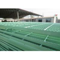 Wholesale PVC Coated Catwalk Grating Walkway , Galvanized Serrated Metal Grate Platform from china suppliers