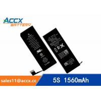 Wholesale Brand new high quality li-polymer replacement internal battery for IPHONE 5S/5C with 3.8V 1560mAh from china suppliers
