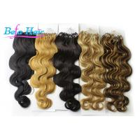 Wholesale Grade 7A Body Wave Indian Remy Micro Loop Hair Extensions With Tangle Free from china suppliers