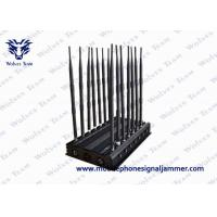 Wholesale Adjustable 14 Antennas Powerful 3G 4G Phone Blocker WiFi UHF VHF GPS Lojack Remote Control All Bands Signal Jammer from china suppliers