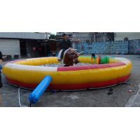 Wholesale Cool Inflatable Sports Games , PVC Material Inflatable Mat with Mechanical Bull from china suppliers