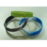 Factory Custom Color Logo Brand Rubber Bracelet Silicone Wristband for sale