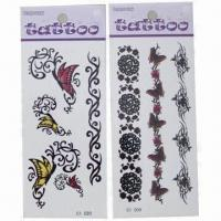 Wholesale Tattoo Stickers, Easy to Apply, Safe and Nontoxic, Customized Designs are Accepted from china suppliers