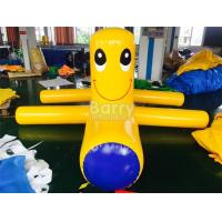 Wholesale Airtight Samll Yellow Inflatable Water Floats / Blow Up Water Toys from china suppliers