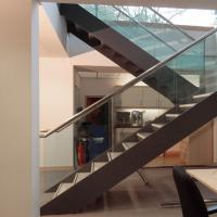 Wholesale Double Stringers U-shaped Modern Wood Staircase Design for Villa from china suppliers