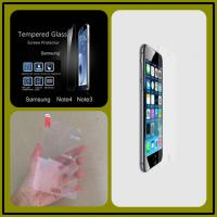 Wholesale Anti-fingerPrint Electroplate Tempered Glass Screen Guard For Samsung Note 4 from china suppliers