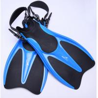 Wholesale EVA / TPR Blue Adjustable Skin Diving Fins Bodyboard Fins Gray / Black from china suppliers