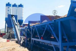 Wholesale HZS90 Belt Type Concrete Batching Plant, Automatic Concrete Batching Plant from china suppliers