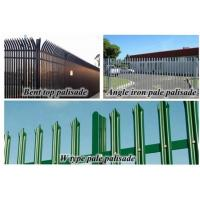 Wholesale Hot dipped galvanised W D pale post and rail steel metal palisade fences from china suppliers