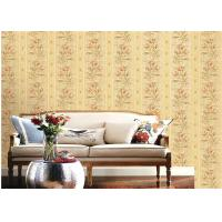 Wholesale American Country Style Deep Embossed Wallpaper Durable 1.06*15.6m Roll Size from china suppliers