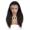 180 Density Full Lace Yaki Straight Human Hair Wigs For Black Women for sale