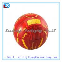Wholesale ball-shaped christmas gift tin box from china suppliers